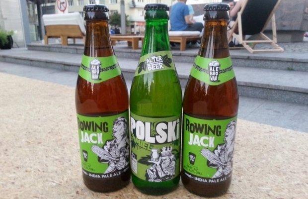 Piwo Rowing Jack z AleBrowaru oraz piwo Polski Chmiel pod marką Alter Beer. Fot. AleBrowar